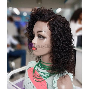 Deep Wave 12 inch Lace front Human Hair Wig