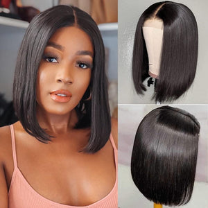 "Tandi 12"" Inch Straight Lace Front Custom Human Hair Wig"