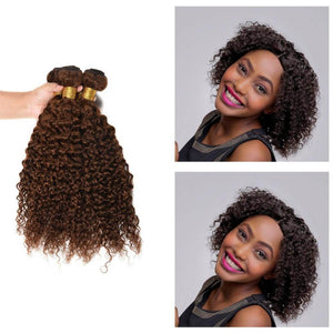 10 Inches Deep Curl Human Hair Weave Bundle Color 2
