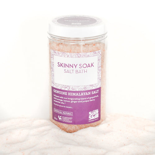 Himalayan Salt Bath Soak - Skinny, Essential Oil Blend (32oz Jar)