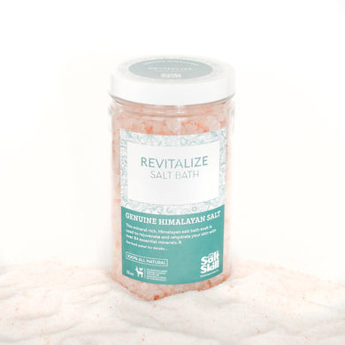 Himalayan Salt Bath Soak - Revitalize (32oz Jar)