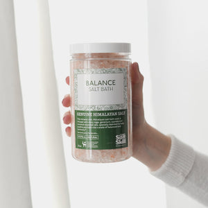 Himalayan Salt Bath Soak - Balance, Essential Oil Blend (32oz Jar)