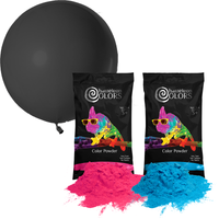 Gender Reveal Balloon Pop Kit - 36 in. Black Balloon