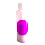 Small plastic cylinder filled with purple concentrated color.
