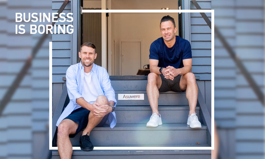 Asuwere co-founders featured on the 'Business is Boring' podcast