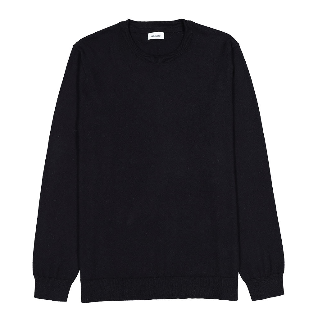 Cotton Cashmere Crew - Black