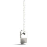 Solitaire Princess Platinum Pendant