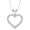 Heart Round 14K White Gold Pendant