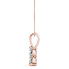 Three-Stone Round 14K Rose Gold Pendant