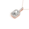 Halo Emerald 14K Rose Gold Pendant