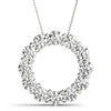 Round 14K White Gold Circle Pendant