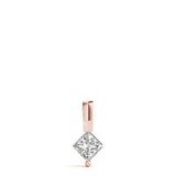 Solitaire Princess 14K Rose Gold Pendant