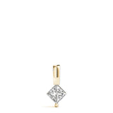 Solitaire Princess 14K Yellow Gold Pendant
