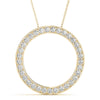Round 14K Yellow Gold Circle Pendant