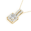Halo Princess 14K Yellow Gold Pendant