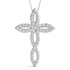 Round 14K White Gold Cross Pendant