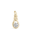 Love Knot Round 14K Yellow Gold Pendant