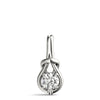 Love Knot 14K White Gold Pendant