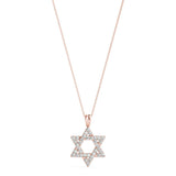 Star of David 14K Rose Gold Pendant