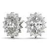 Halo Oval 14K White Gold Stud Earrings
