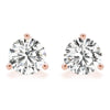 1 CT. TW. 14K Rose Gold Moissanite Martini Studs