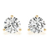 0.50 CT. TW. 14K Yellow Gold Lab-Grown Martini Studs