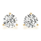 2 CT. TW. 14K Yellow Gold Lab-Grown Martini Studs