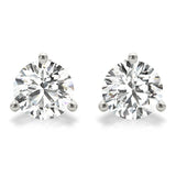 0.50 CT. TW. 14K White Gold Moissanite Martini Studs