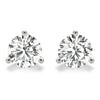 3 CT. TW. 14K White Gold Moissanite Martini Studs