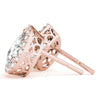 Halo Pear 14K Rose Gold Stud Earrings