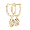 Halo Round 14K Yellow Gold Earrings