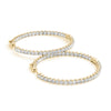 Inside-Out Four-Prong 14K Yellow Gold Hoop Earrings (1.0, 1.5, 2.0-inch Options)