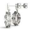 Halo Oval Platinum Earrings