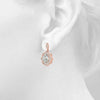 Halo Oval 14K Rose Gold Earrings