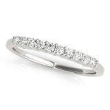 10-Stone Band Round 14K White Gold