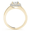 Halo Princess 14K Yellow Gold Engagement Ring
