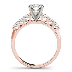 Accented Solitaire Round 14K Rose Gold Engagement Ring