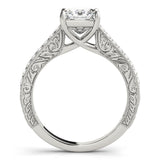 Four-Prong Vintage Princess 14K White Gold Engagement Ring