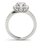 Halo Round Platinum Engagement Ring