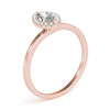 Two-Prong Halo Marquise 14K Rose Gold Engagement Ring