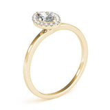 Two-Prong Halo Marquise 14K Yellow Gold Engagement Ring