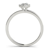Two-Prong Halo Marquise Platinum Engagement Ring