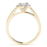Halo Cushion 14K Yellow Gold Engagement Ring