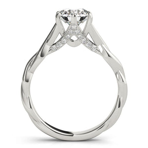 Six-Prong Solitaire Round 14K White Gold Engagement Ring