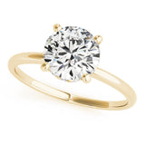 Four-Prong Solitaire Round 14K Yellow Gold Engagement Ring