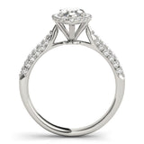 Multi-Row Halo Marquise Platinum Engagement Ring