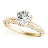 Six-Prong Vintage Round 14K Yellow Gold Engagement Ring
