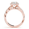 Braided Halo Round 14K Rose Gold Engagement Ring