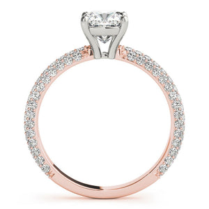 Accented Solitaire Cushion 14K Rose Gold Engagement Ring