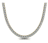Riviera Round Diamond Neclace In 14K Yellow Gold